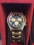 ROLEX 116598 RAINBOW DAYTONA YG AUTOMATIC DIAMONDS & SAPPHIRES