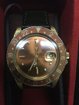 ROLEX 1675 GMT MASTER HAVANA BROWN 18K AUTOMATIC