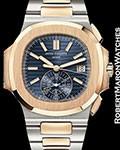 PATEK PHILIPPE NAUTILUS CHRONOGRAPH 5980/1AR 18K ROSE STEEL NEW AUTOMATIC