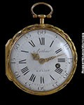 ARTHUR A PARIS 20K GOLD POCKET WATCH ENAMEL APOTHECARY SCENE 1760