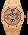 AUDEMARS PIGUET ROYAL OAK PERPETUAL CALENDAR 18K ROSE 120TH ANNIVERSARY LIMITED EDITION