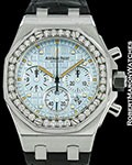 AUDEMARS PIGUET ROYAL OAK OFFSHORE CHRONOGRAPH BLUE DIAL AUTOMATIC STEEL