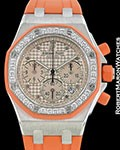 AUDEMARS PIGUET ROYAL OAK OFFSHORE LADY�S 18K WHITE GOLD ORANGE 25986