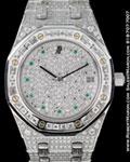 AUDEMARS PIGUET ROYAL OAK DIAMONDS 18K GREY GOLD