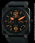 BELL & ROSS BR03-94 LIMITED EDITION PVD CHRONOGRAPH INSTRUMENT WATCH