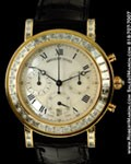 BREGUET MARINE CHRONOGRAPH DIAMOND CASE 18K GOLD
