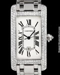CARTIER 1726 TANK AMERICAINE AUTOMATIC DIAMONDS 18K