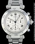 CARTIER PASHA CHRONOGRAPH STEEL