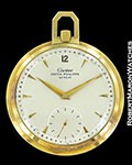CARTIER POCKET WATCH 18K GOLD