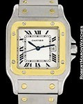 CARTIER SANTOS AUTOMATIC 18K YELLOW GOLD/STEEL