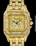 CARTIER TANK PANTHER DIAMONDS PAVE 18K