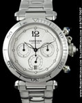 CARTIER PASHA CHRONOGRAPH AUTOMATIC STEEL