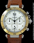 CARTIER PASHA CHRONOGRAPH AUTOMATIC 18K / STEEL