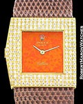 ROLEX CELLINI ASYMMETRICAL REF 4017 18K DIAMONDS BOX PAPERS 1974 LEFT HAND