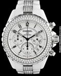 CHANEL J12 H 1707 CHRONOGRAPH AUTOMATIC DIAMONDS CERAMIC