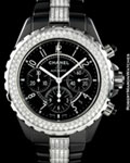 CHANEL J12 H 1706 CHRONOGRAPH AUTOMATIC DIAMONDS CERAMIC