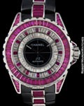 CHANEL J 12 AUTOMATIC CERAMIC RUBY DIAMONDS