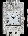 CHOPARD CLASSIQUE H WATCH 18K WHITE GOLD DIAMONDS NEW 10/6805