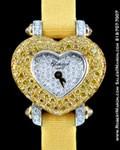 CHOPARD CLASSIQUE HEART PAVE DIAMONDS 18K