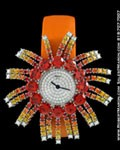 CHOPARD FIREWORK DESIGN 13/9074 18K DIAMONDS RUBIES 18K