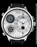CURTIS & CO BIG Time WORLD FOUR TIMEZONES STEEL