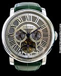 CARTIER ROTONDE TOURBILLON MONOPUSHER CHRONOGRAPH PLATINUM LIMITED EDITION