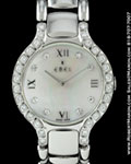 EBEL BELUGA MOTHER OF PEARL DIAMONDS STEEL