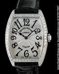 FRANCK MULLER CURVEX 7502 QZ D DIAMOND BEZEL STEEL