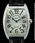 FRANCK MULLER 7502 QZ D CURVEX DIAMONDS STEEL