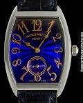 FRANCK MULLER REF 7500 S6 CINTREE CURVEX BLUE DIAL 18K WHITE GOLD