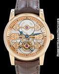 GIRARD PERREGAUX TRIPLE BRIDGE TOURBILLON 18K ROSE SKELETON BOX PAPERS