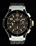 HUBLOT BIG BANG 18K STAINLESS STEEL CHRONOGRAPH RUBBER