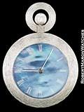 INTERNATIONAL WATCH CO. IWC 18K WHITE GOLD POCKET WATCH 1964