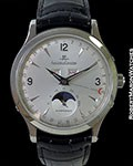 JAEGER LECOULTRE MASTER MOON STEEL TRIPLE DATE MOONPHASE BOX PAPERS