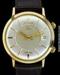 LE COULTRE JUMBO MEMOVOX AUTOMATIC ALARM DATE GOLD