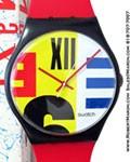"SWATCH MAXI "" NINE TO SIX "" GB 117 7FT WALL CLOCK"