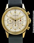MOVADO VINTAGE CHRONOGRAPH 14K REF 49038 UNPOLISHED 1940s SCREW BACK