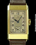 OMEGA 18K TANK WATCH UNPOLISHED w/ HANG TAG 1913