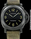 PANERAI LUMINOR PAM 9A A SERIAL BLACK PVD 44MM 1998 BOX & PAPERS