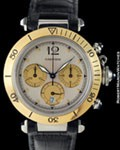 CARTIER PASHA CHRONOGRAPH 18K STEEL