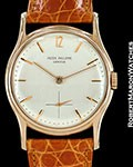 PATEK PHILIPPE VINTAGE CALATRAVA 1527 18K ROSE �THE TONNEAU� 1945