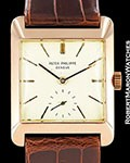 PATEK PHILIPPE VINTAGE OVERSIZED 1940�S 18K ROSE GOLD SQUARE