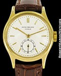 PATEK PHILIPPE VINTAGE CALATRAVA 2451 18K GOLD SCREW BACK CA 1950
