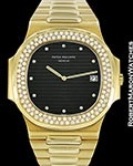 PATEK PHILIPPE JUMBO NAUTILUS 3700/3 18K DIAMONDS AUTOMATIC