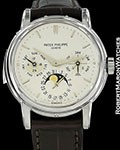 PATEK PHILIPPE 3974G 18K WHITE AUTOMATIC MINUTE REPEATER PERPETUAL