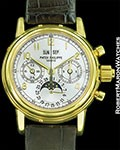 PATEK PHILIPPE 5004 J 18K SPLIT SECONDS CHRONOGRAPH PERPETUAL CALENDAR