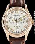 PATEK PHILIPPE 5035R 18K ROSE GOLD AUTOMATIC ANNUAL CALENDAR