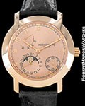 PATEK PHILIPPE 5055 R 18K ROSE GOLD MOONPHASE RESERVE AUTOMATIC