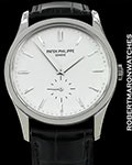 PATEK PHILIPPE OVERSIZED CALATRAVA 5196G 18K WHITE GOLD BOX PAPERS