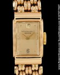 PATEK PHILIPPE 3320 LADIES RECTANGLE HOODED LUGS 18K ROSE